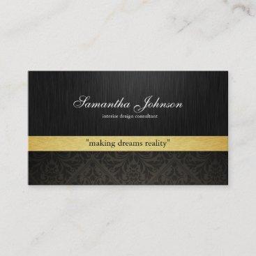 Professional Elegant Damask (metallic gold) Business Card
