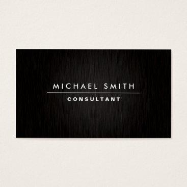 Professional Elegant Modern Plain Simple Black Business Card