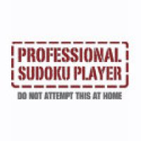 Sudoku Geeks T-Shirts & Gifts - Professional Sudoku Player