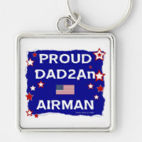 Proud Dad 2An Airman Keychains