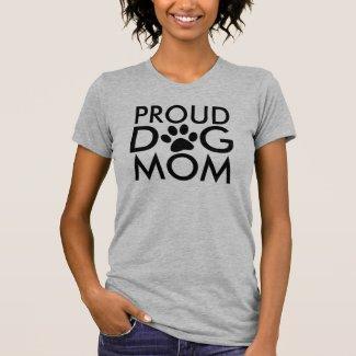 Proud Dog Mom Typography Design T-Shirt