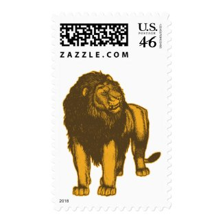 Proud Lion Postage Stamp stamp