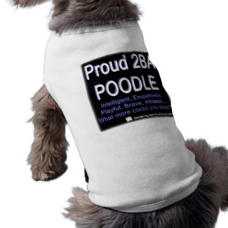 Proud Poodle - (Blue) - Pet Clothing petshirt