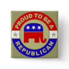 Proud Republican Button