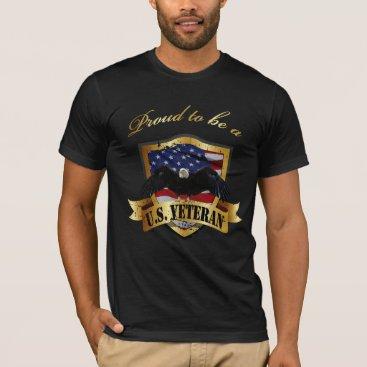 Proud to be a U.S. Veteran - distressed T-Shirt