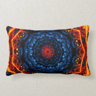 Psychedelic Kaleidoscope6 (fractal passion) Pillow mojo_throwpillow