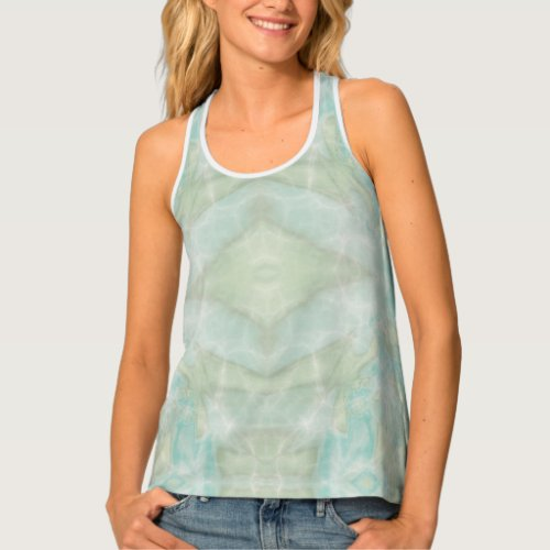 Psychedelic Turquoise Tank Top