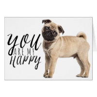 Pug Puppy Dog - Love, Hello, Thinking of You, Hi Card