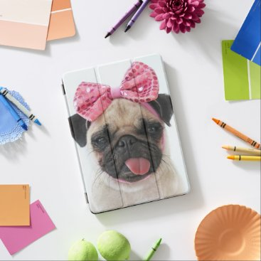 Pug with Pink Bow iPad Pro Cover