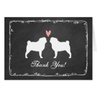 Pugs Wedding Thank You Card