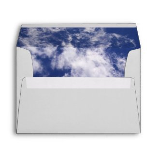 Pulled Cotton Clouds Envelope envelope