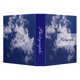 Pulled Cotton Clouds Photo Binder binder