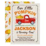 Pumpkin Birthday Invitation Pumpkin Truck Party