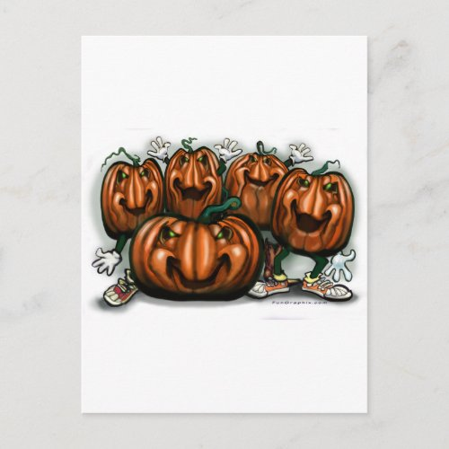 Pumpkin Party Invitation Postcard