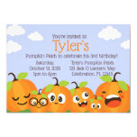 Pumpkin Patch Farm Kids Birthday Invitation