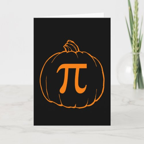 Pumpkin Pi (pie) Mathematics Humour Card