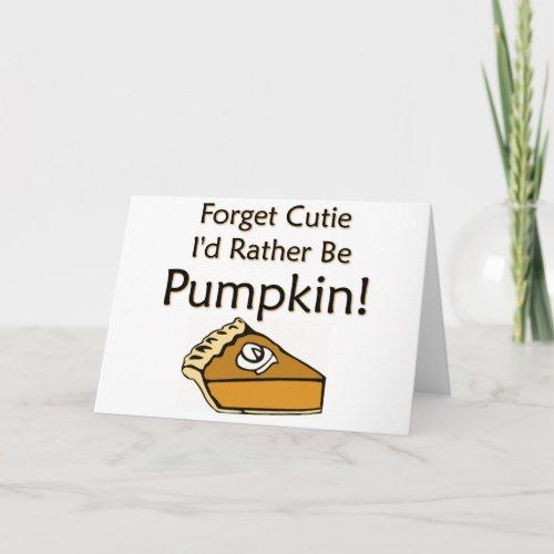 Pumpkin Pie Holiday Card