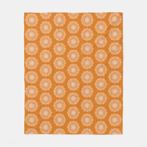Pumpkin Pie Mandala Fleece Blanket