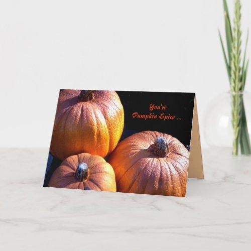 Pumpkin Spice Holiday Card