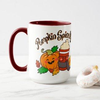 Pumpkin Spice Me! coffee mug 15 oz red
