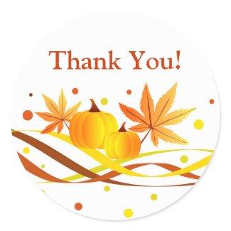 Pumpkins and leaves - Sticker sticker