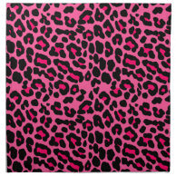 Punk Pink Leopard Print Cloth Napkin on Zazzle