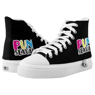Punsexual Pansexual LGBT Pride Printed Shoes