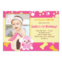 PUPPY PARTY Invitations - Girl