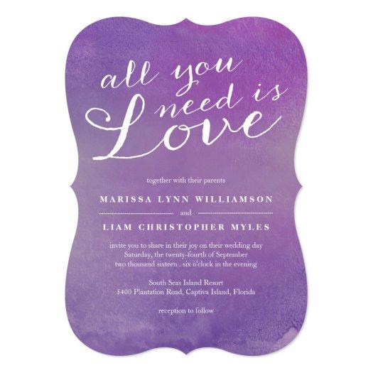 Pure Love Wedding Invitation / Violet