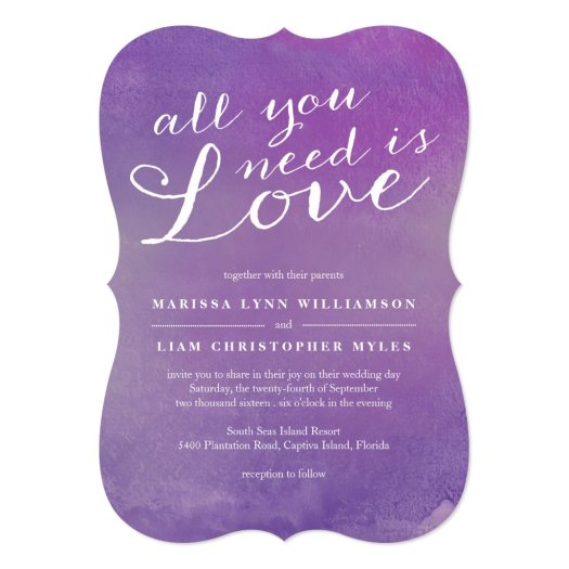 Pure Love Wedding Invitation / Violet