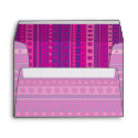 Purple and Pink Stripy Stars and Spots Pattern zazzle_envelope