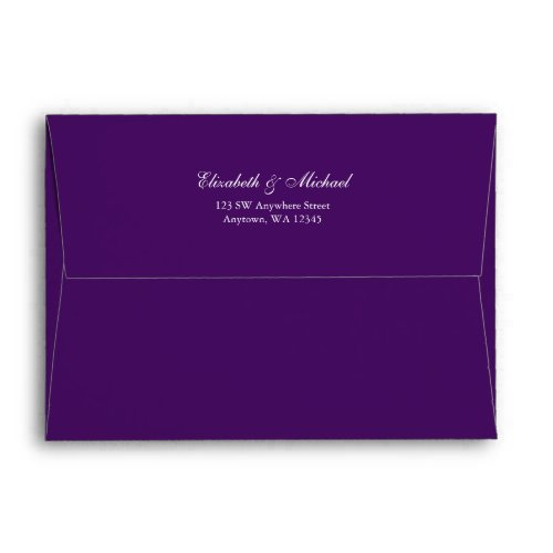 Purple and Silver Return Address A7 Envelope
