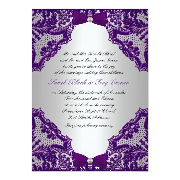 Bridal Shower Invitations Purple