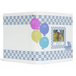 Purple and White Carriage Baby Binder binder