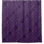 Purple Black Circle Design Shower Curtain