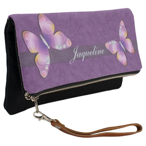 Purple Butterfly Clutch