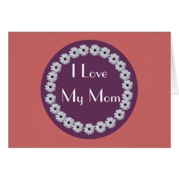 Purple Daisy Circle Card