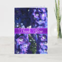 Purple Floral Thank You Greeting Card