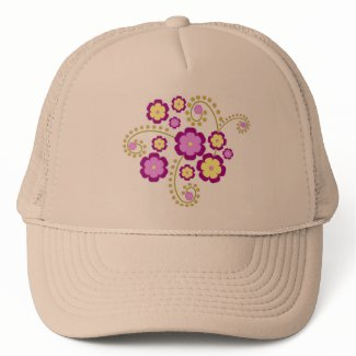 Purple flowers hat