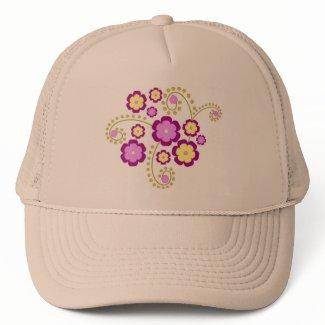 Purple flowers hat