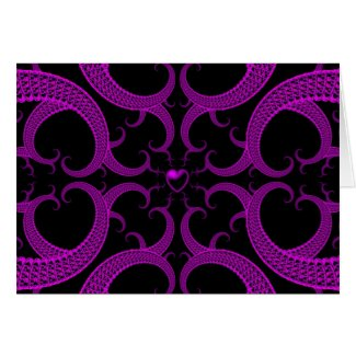 Purple Gothic Heart Fractal card