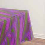 Purple Green Color Swish Tablecloth