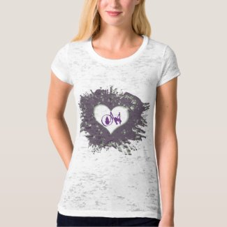 Purple Heart Om shirt