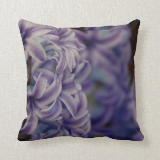 Purple Hyacinth Flower Square Accent Pillow