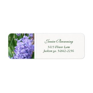 Purple Hyacinths : Address Label
