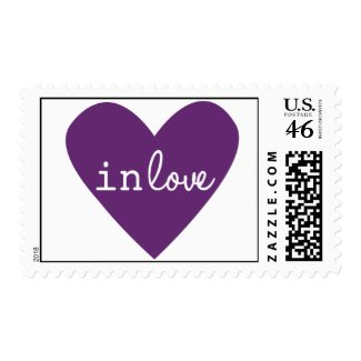 Purple In Love Postage Stamp