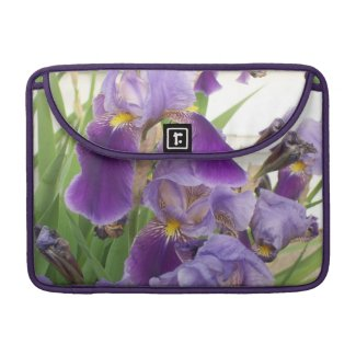 Purple Iris Macbook Pro Sleeve