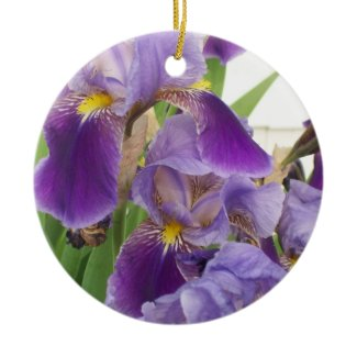 Purple Iris Ornament