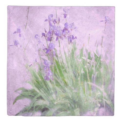 Purple Irises Watercolor - Duvet Cover