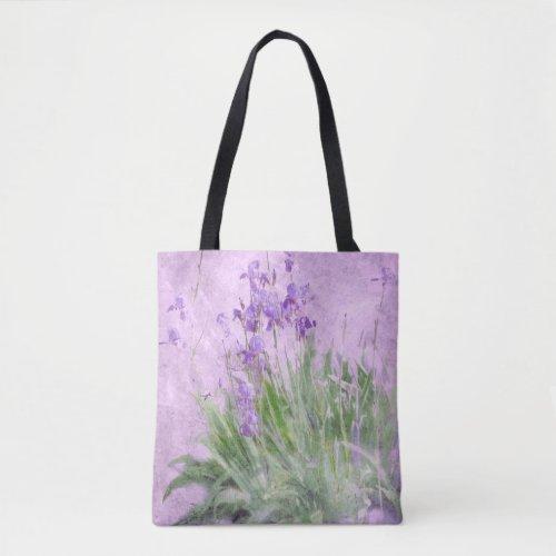 Purple Irises Watercolor - Tote Bag